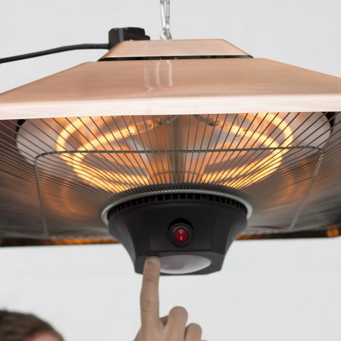 Hanging Patio Heater With Remote And LED Light