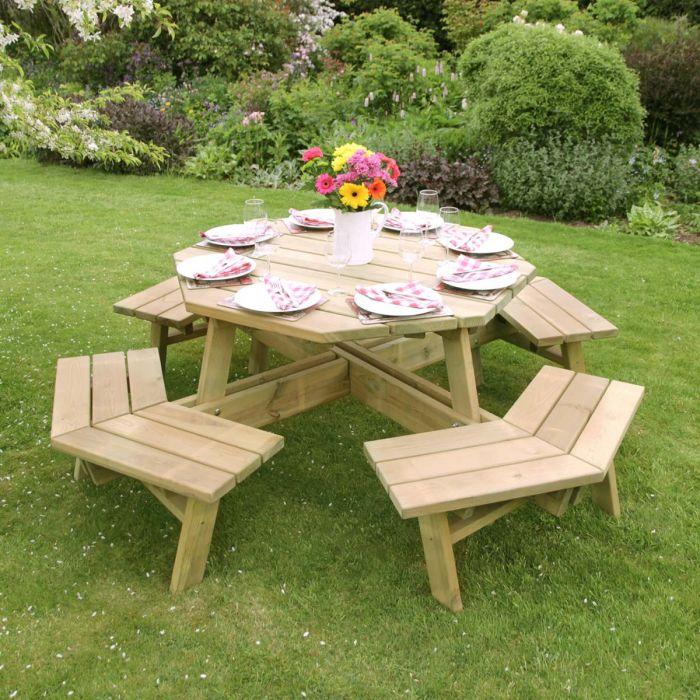 Astonishing Alex Octagon Picnic Table Home Interior And Landscaping Oversignezvosmurscom