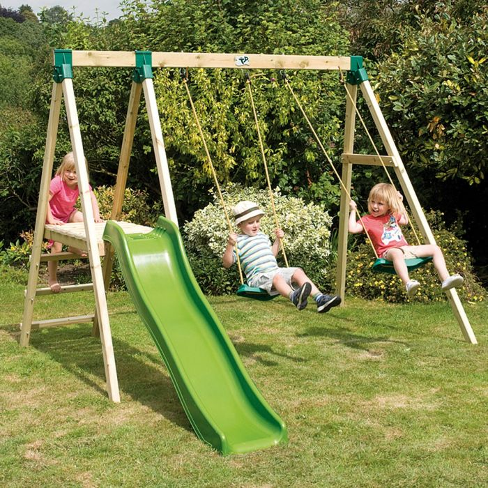 Tp Forest Multiplay Wooden Swing Set