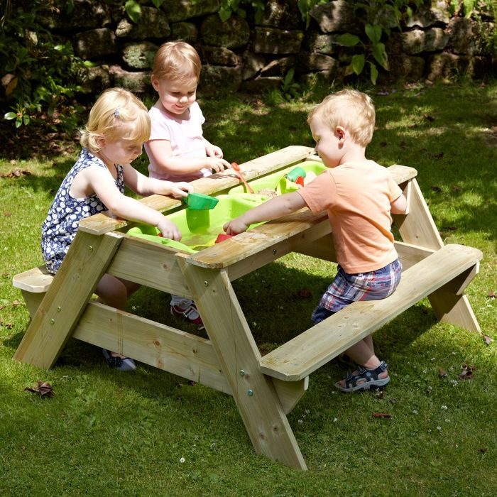 Surprising Tp Deluxe Wooden Picnic Table Sandpit Pabps2019 Chair Design Images Pabps2019Com