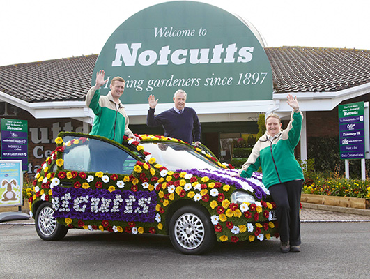 Flower power car and Notcutts team