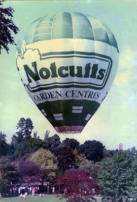 Notcutts hot air balloon