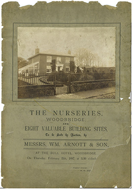 The nurseries Woodbridge autcion advertisement