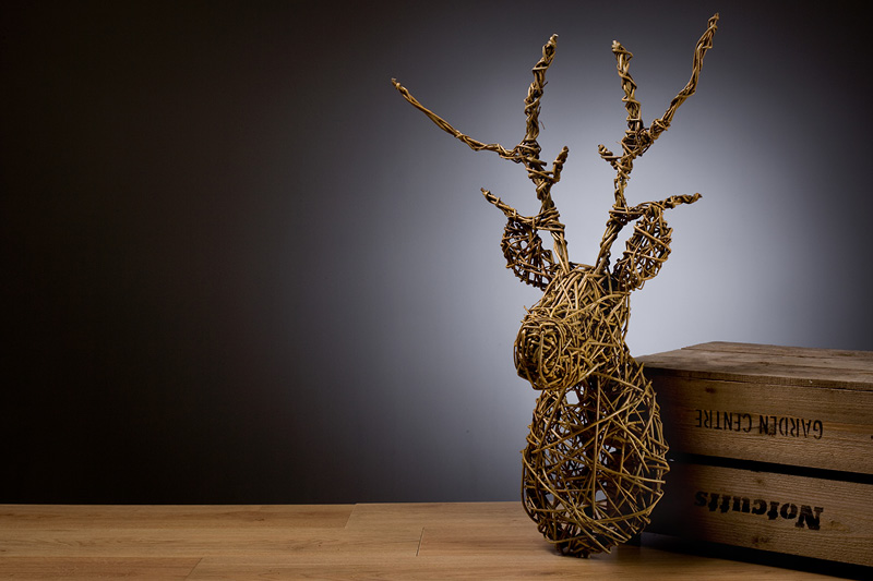 Create a willow stags head