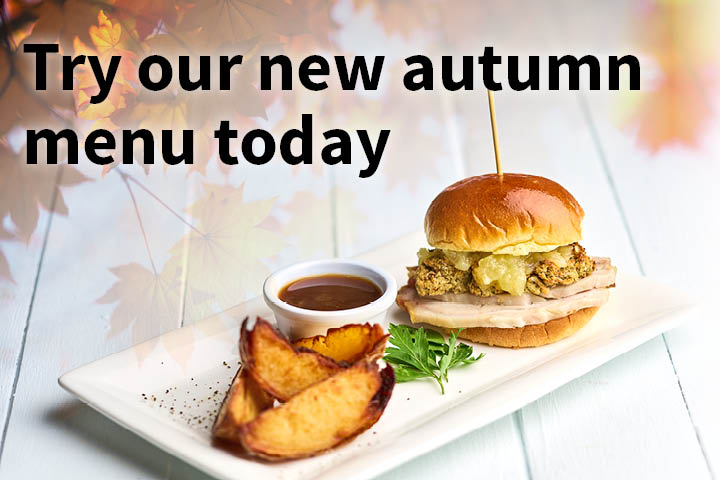 Try our new autumn menu today