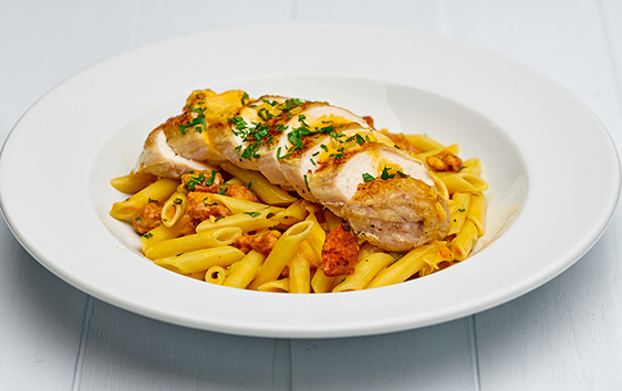Chicken and chorizo penne