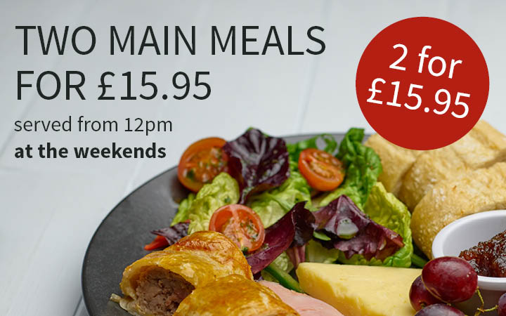 Two main meals for £15.95