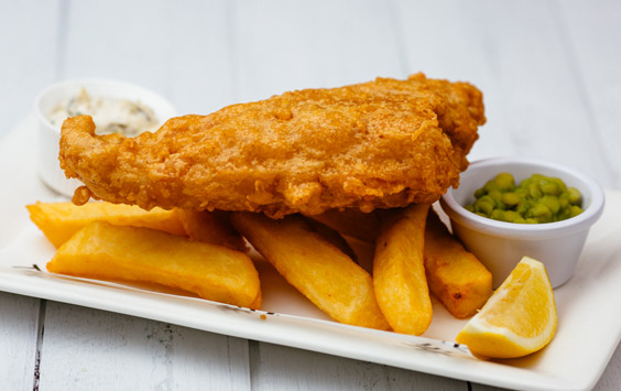 Hearty fish and chips
