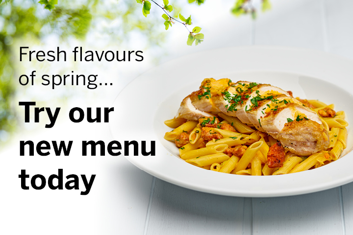 Try our new menu today