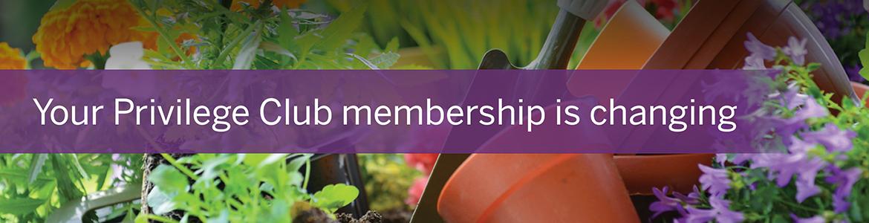 Privilege Club membership changes
