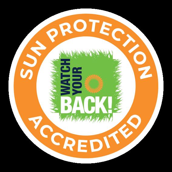 WYB Sun Protection Accredited logo