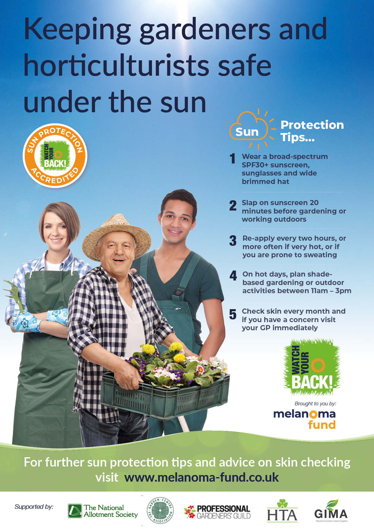 Keeping gardeners and horticulturists safe under the sun