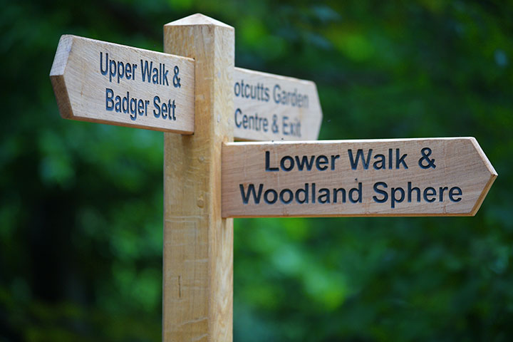 Woodbridge naturewalk signpost