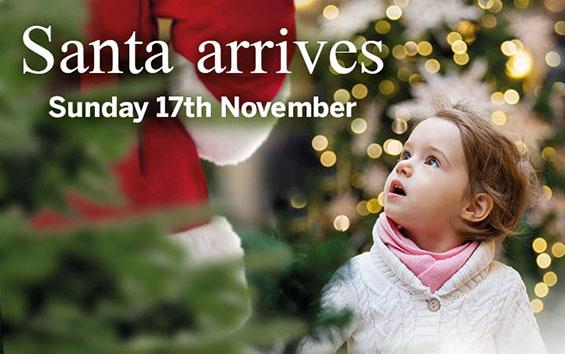 Santa arrives 17th November