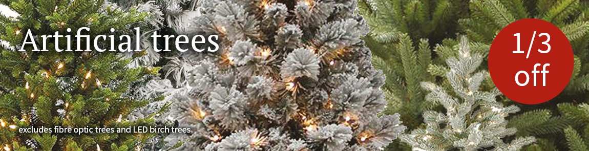 1/3 off selected Artificial Christmas trees