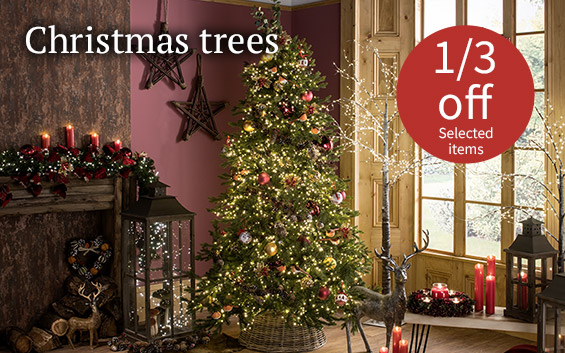 Christmas trees 1/3 off selected items