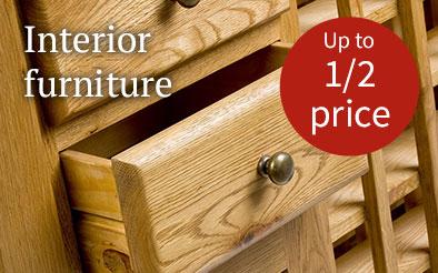 Interior furniture - Up to half price