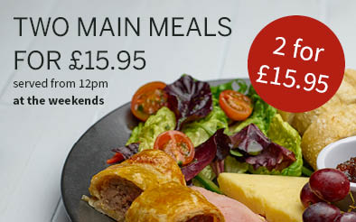 2 main meals for £15.95