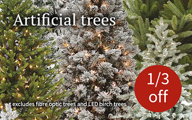 Artificial Christmas trees - 1/3 off