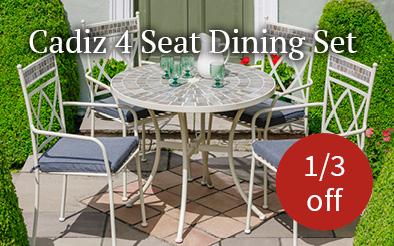 Cadiz 4 seat dining set - 1/3 off