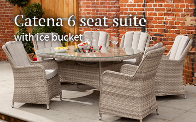 Notcutts Catena 6 seat ding suite with ice bucket