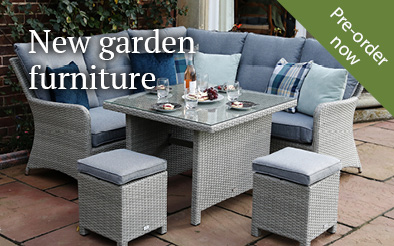 Pre-order garden furniture arriving in May
