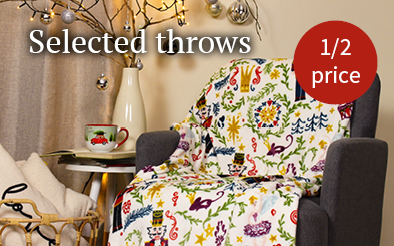 Select throws half price