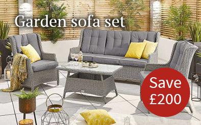 Save £200 on Thalia garden sofa set