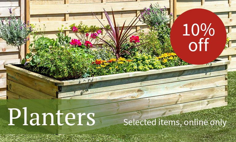 10% off selected planters