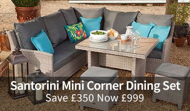Save £350 Santorini Mini Corner Dining Set