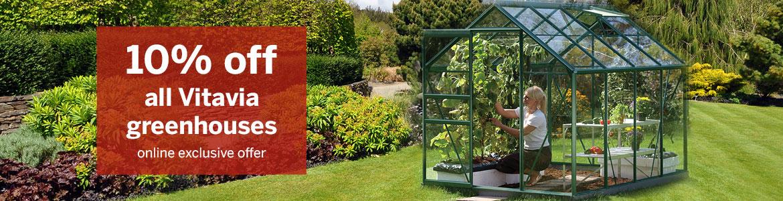 10% off Vitavia greenhouses