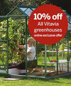10% off all Vitavia Greenhouses
