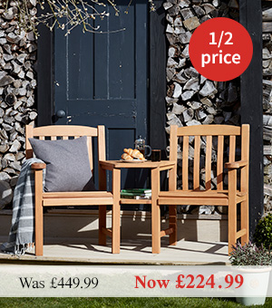 Notcutts Windsor Eucalyptus Companion Bench Half Price
